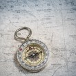 Compass and map — Stockfoto #29660695