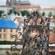 Shrine at Charles Bridge in Prague — Stock Photo