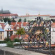 Shrine at Charles Bridge in Prague — Stock Photo