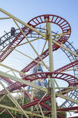 Ferris Wheel and Roller Coaster — Stok fotoğraf
