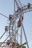 Ferris Wheel and Roller Coaster — Stock Photo