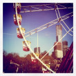 A ferris wheel in the winter light. Melbourne Australia — Stock Photo