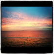 A beautiful sunset over Port Phillip Bay. Melbourne Australia — Stock Photo