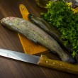 Two raw trouts - Stock Photo