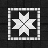 Black-white mosaic pattern decor — Stock Photo