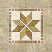 Beige mosaic pattern decor — Stock Photo