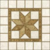Beige mosaic pattern decor — Stock Photo