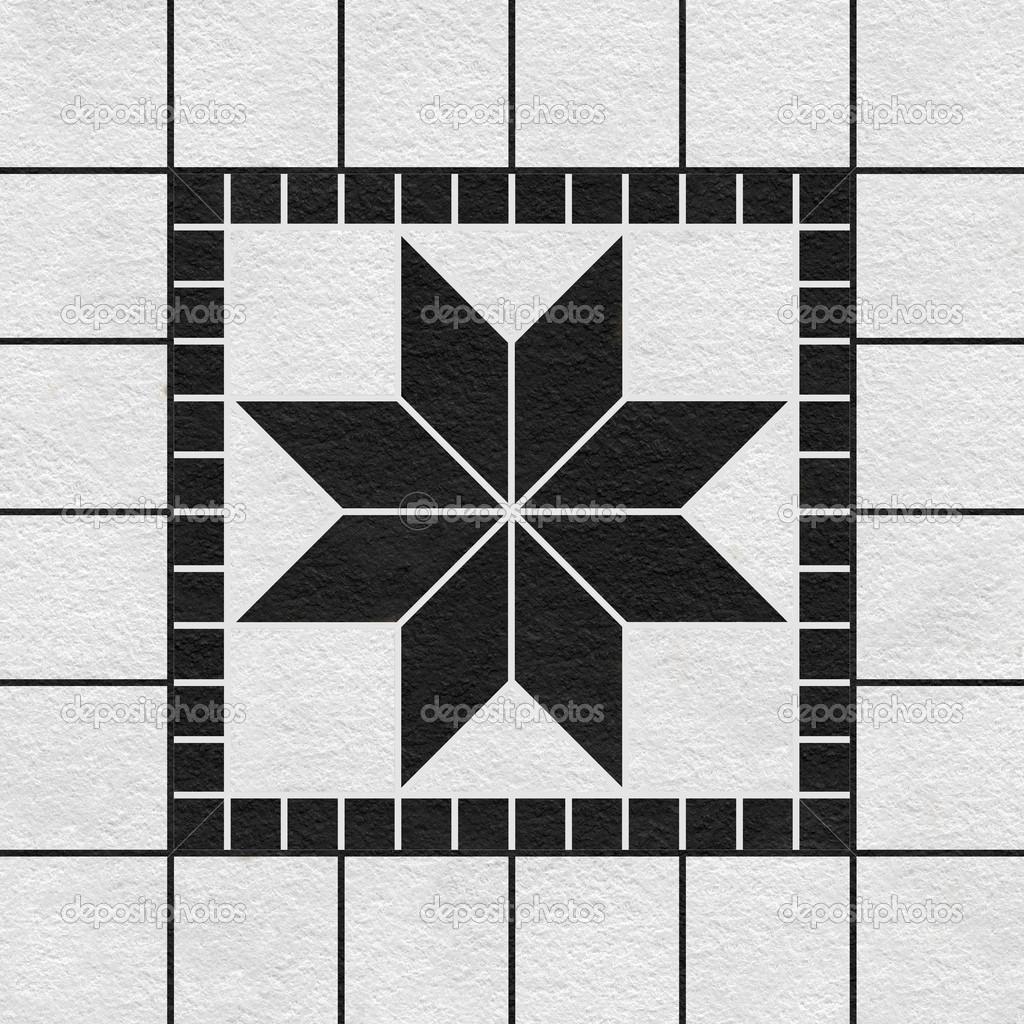 黑白马赛克图案装饰