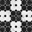 White and black mosaic marble texture.(High.Res.) - Stock Photo