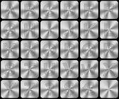 Abstract silver alphabet — Stock Photo