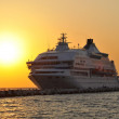 Stock Photo: Elegant Cruise Ship ( sunset ) - Aegean Turkey