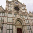 Facade of the Baslica di Santa Maria del Fiore (basilica of saint mary of the flower), the main church of Florence, italy — Stock Photo