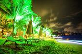 Tropická pláž v noční době — Stock fotografie