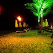 Stock Photo: Tropical beach at night time