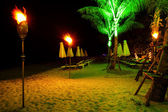Tropical beach at night time — Stock Photo