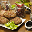 Fried beef cutlets — Stock Photo