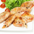 Roasted shrimps - Stockfoto