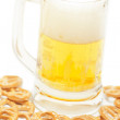 Royalty-Free Stock Photo: Beer and snack