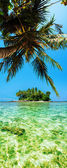 Tropical island. Panoramic vertical composition. — Stock Photo