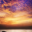 Stock Photo: Spectacular sunset scene. Vertical panorama.