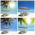 Tropical beach set — Stock Photo