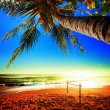Picturesque view of amazing tropical beach. Square composition. — Foto Stock