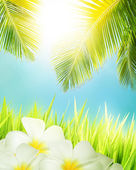 Tropical concept. Vertical composition. — Stock Photo