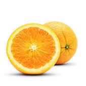 Perfect orange composition. Isolated on white background. — Stock Photo