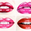 Beautiful female lips collection — Stock Photo