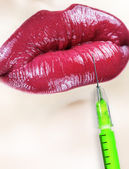 Beauty injection. Vertical composition. — Stock Photo