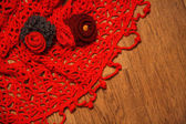 Red shawl — Stock Photo