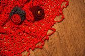 Red shawl — Stock Photo