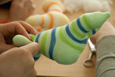 Toy from socks — Stock Photo