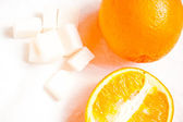Orange and orange anti-cellulite salt for bath — Stock Photo