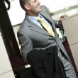 Business person arrives to the hotel - Stock Photo