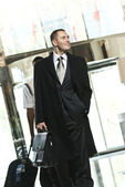 Business person arrives to the hotel — Stock Photo