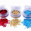 Picture of three different kinds of nail glitters — Stock Photo #19183145