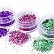 Royalty-Free Stock Photo: Picture of three different kinds of nail glitters
