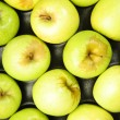 Green apples composition in the box — Stock Photo #19189165