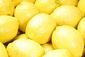 Cerrar el cuadro de limón amarillo — Foto de Stock