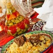 Uzbek national dish - plow - Stock Photo