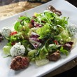 Plate of liver salad - Stock Photo
