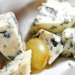 Close up of Danish blue cheese pieces — Stock Photo