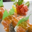 Picture of tasty looking sushi plate - Stock Photo