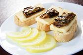 Plate of traditional Italian snacks — Stock Photo