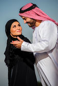 Portrait of Arabic dressed yang couple — Stock Photo