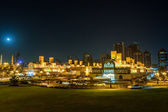 Night wiev of Central Souq in Sharjah City,UAE — Stock Photo