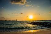 Kaite beach sunset in Dubai,UAE — Foto Stock