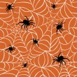 Spiders and Webs_Orange — Stock Vector