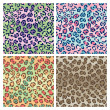 Royalty-Free Stock Vector Image: Spotted Cats Pattern in 4 Colorways